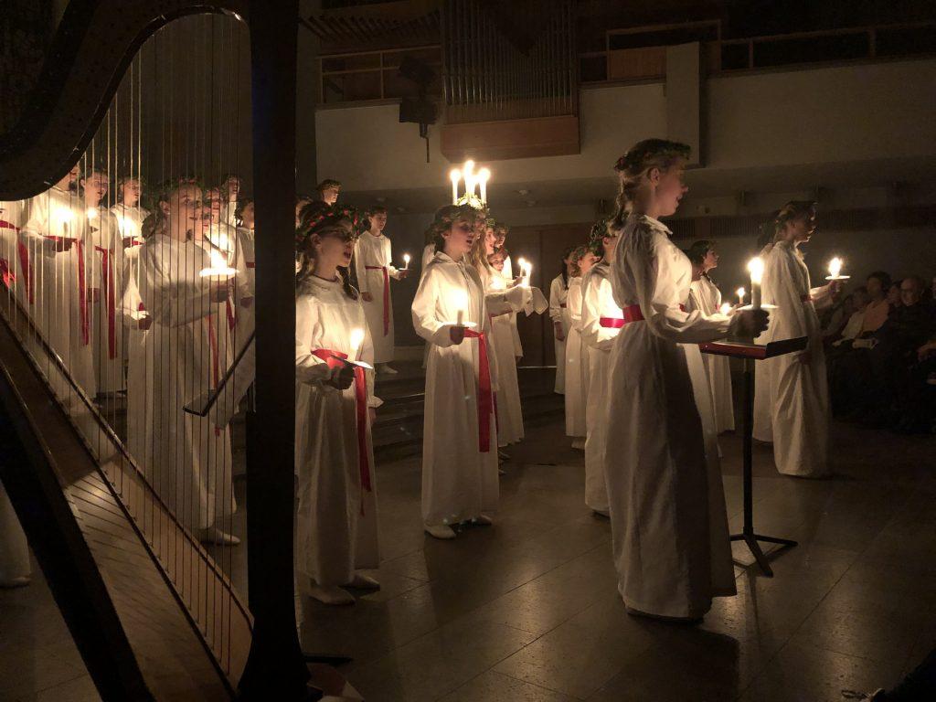 Lucia i Norrmalmskyrkan 13 december 2019